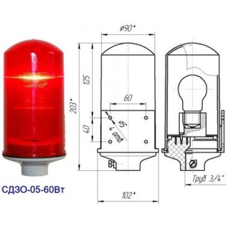 Заградительный огонь СДЗО-60Вт >10cd, тип «А», 220V AC, IP54