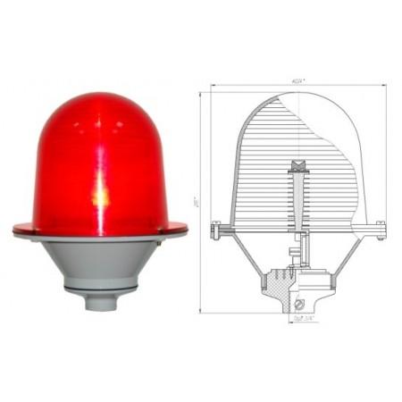 Светосигнальный прибор ЗОМ поликарбонат,  IP 54 (аналог  ЗОЛ, ЗОЛ-2,  ЗОМ(А), ЗОМ ИШБП)