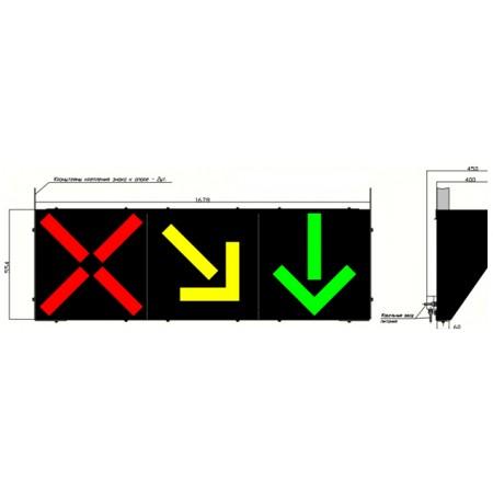 Светодиодный реверсивный светофор Т.4.ж