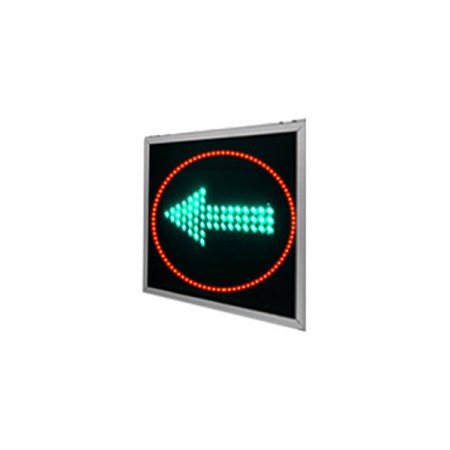 Зеленая стрелка плоского светофора 300 мм