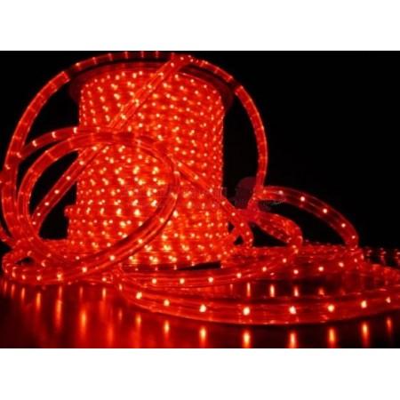 Дюралайт круглый красный,13мм LED 2W 220V 100M R