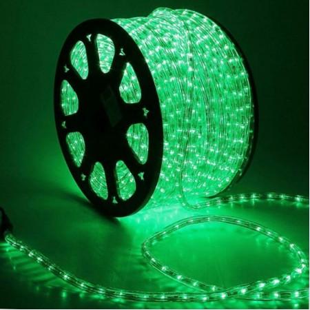 Дюралайт круглый LED 2W 100M 13 MM 220V зеленый купить