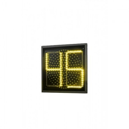 Желтая секция плоского светофора с ТООВ